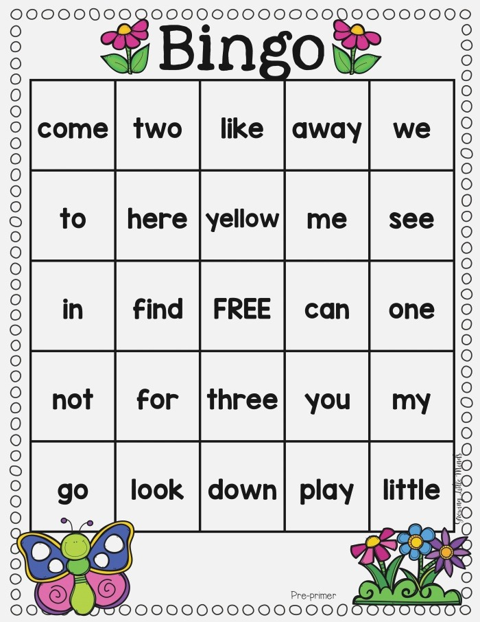 Spring Dolch Sight Word Games Fillable to Add Your Own