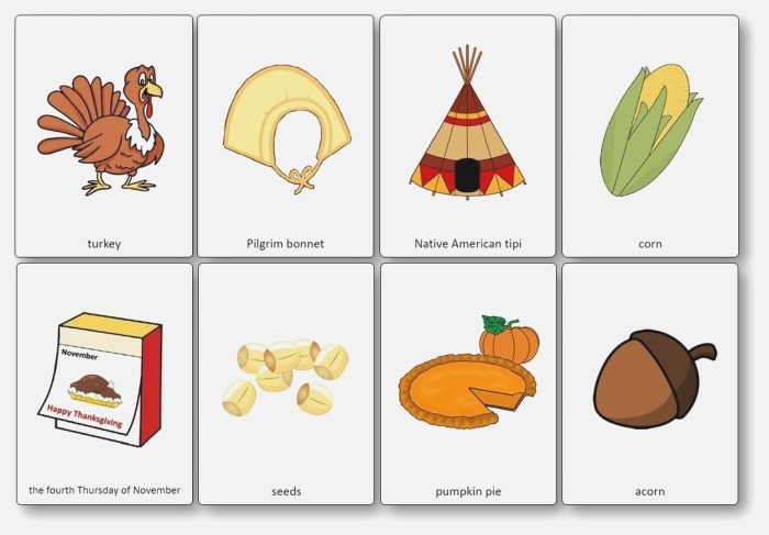 Thansgiving Flashcards – Free Printable Flashcards to