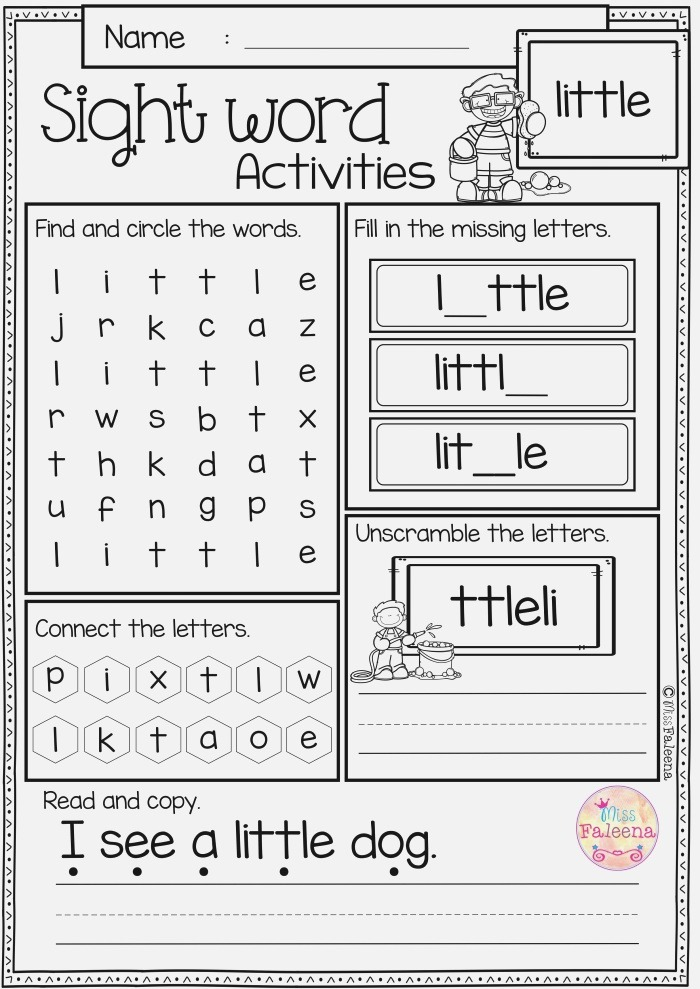 Sight Word Little Worksheets