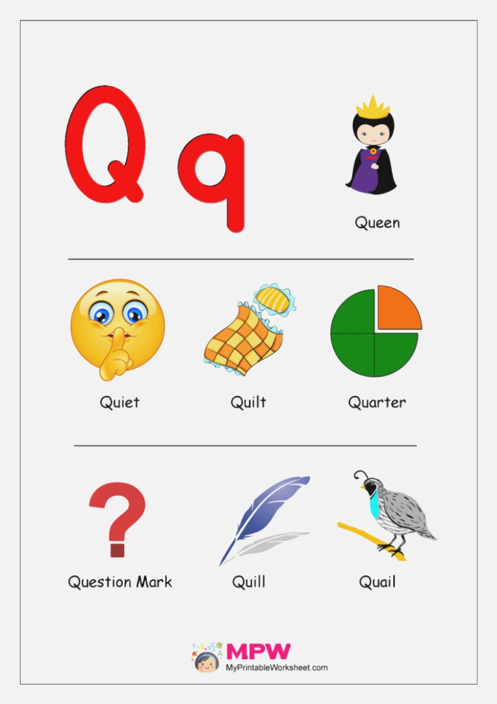 Things that Start with Q Alphabet