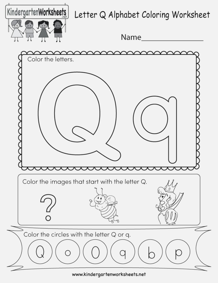 This is A Letter Q Coloring Worksheet Children Can Color