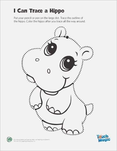 touch Magic Hippo Tracing Page