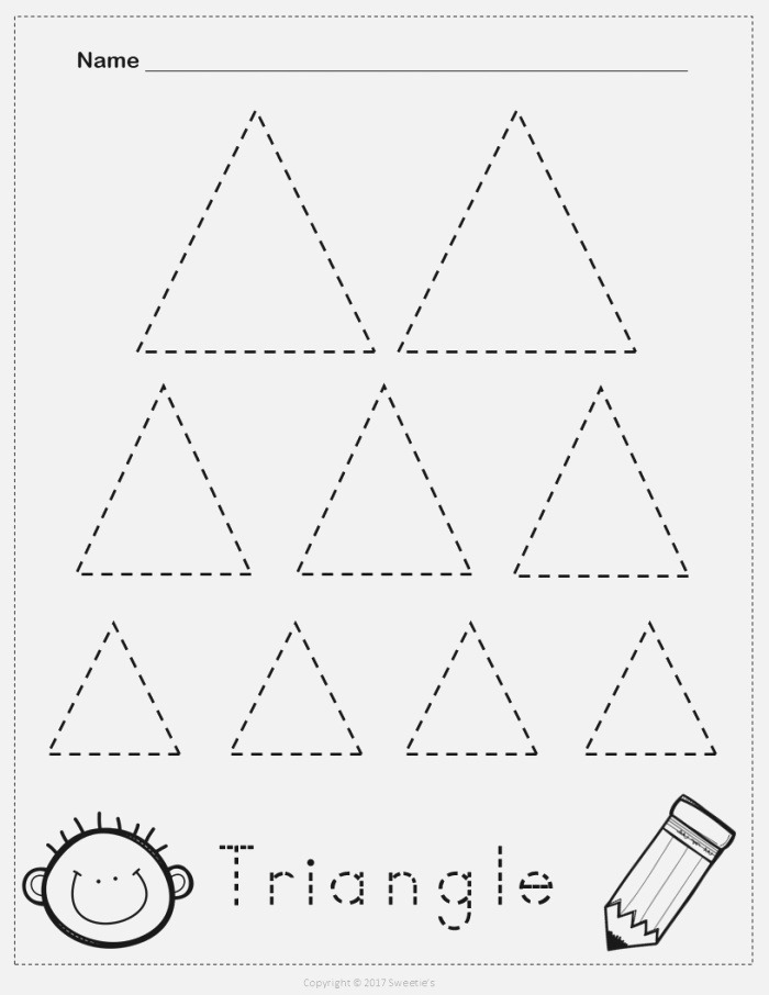 Tracing Triangle Worksheets