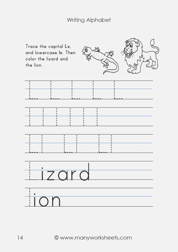 Tracing Uppercase L and Lowercase L