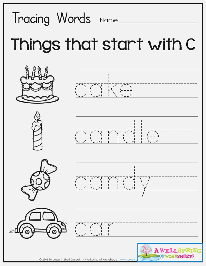 Tracing Words Things that Start with A Z