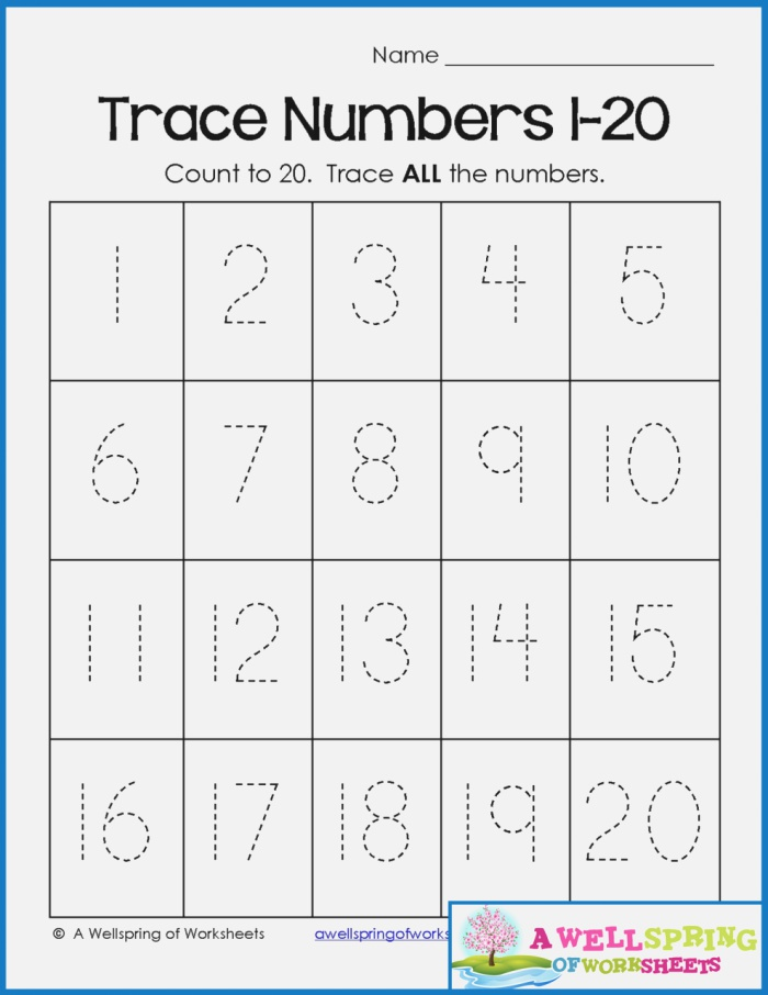 Tracing Worksheets Dots Tracing Numbers 1 10
