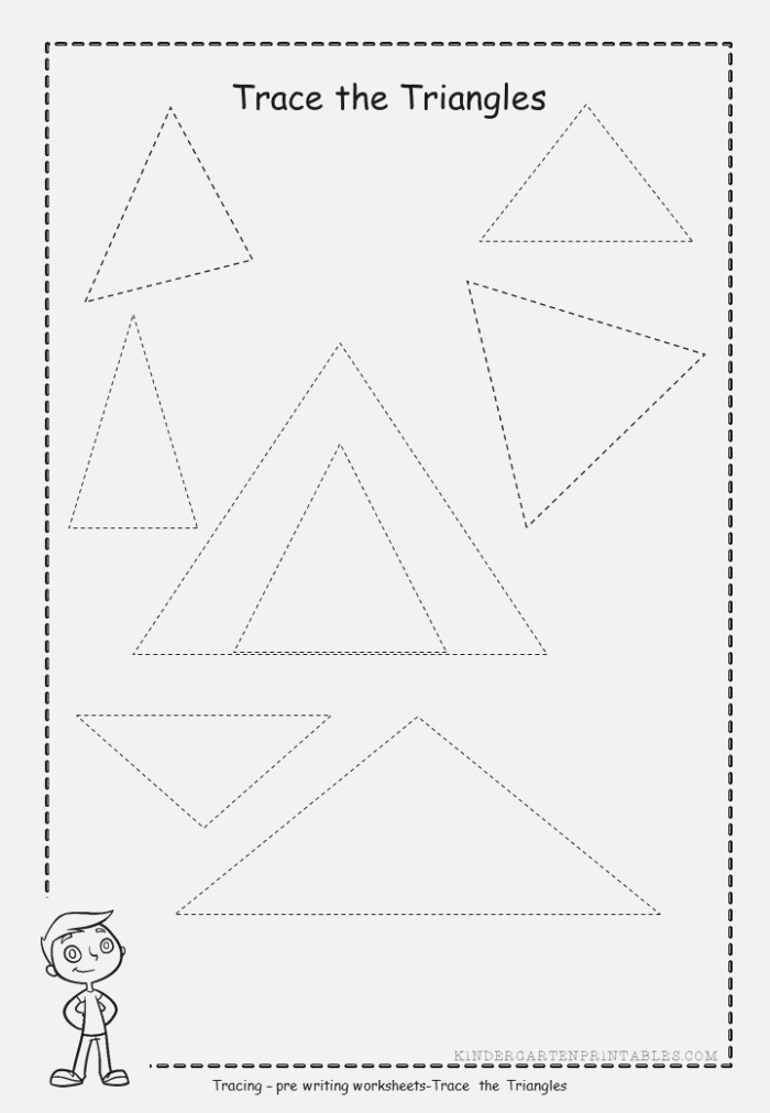 Triangle Tracing Worksheets Free Printables Triangle