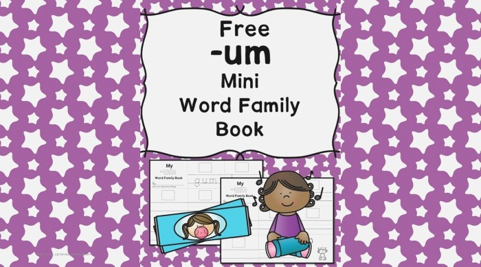 Um Cvc Word Family Worksheets Make A Word Family Book