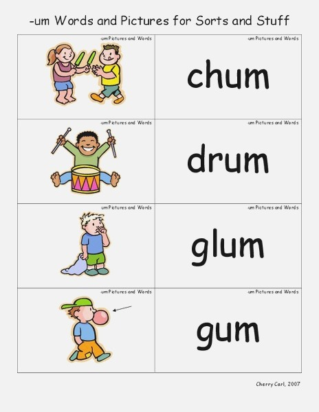 Um Words and for sorts and Stuff Lesson Plan