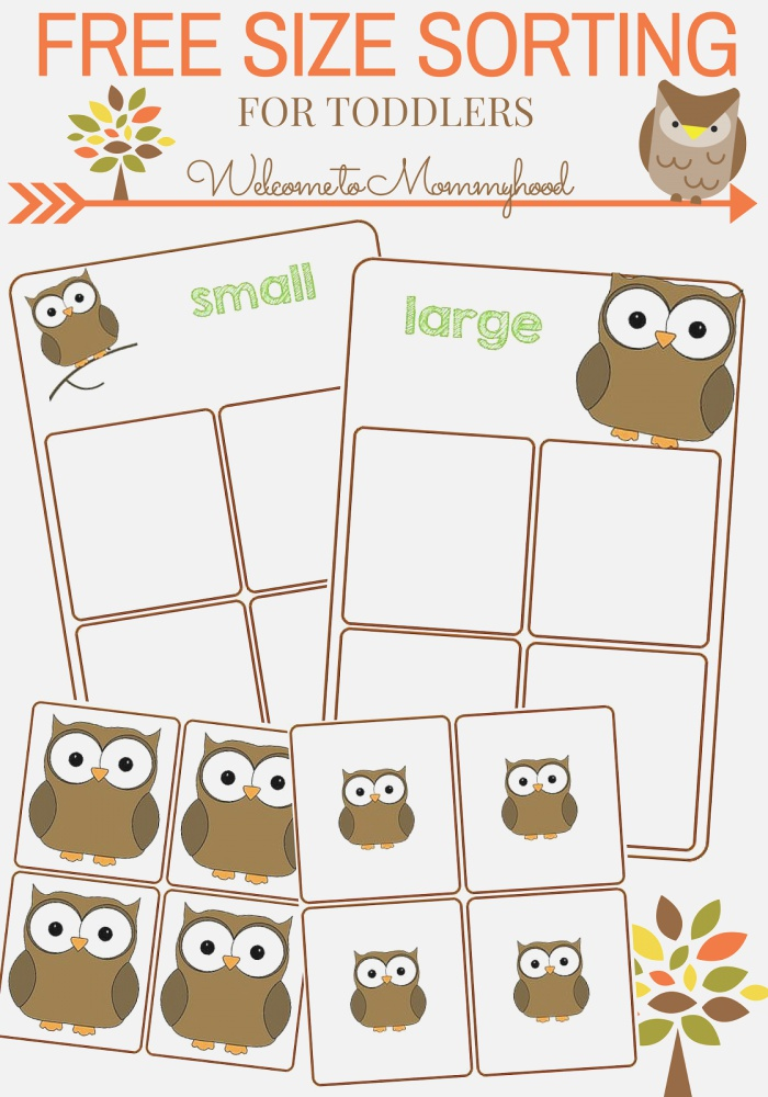 Wel E to Mommyhood Free Size sorting Printable for