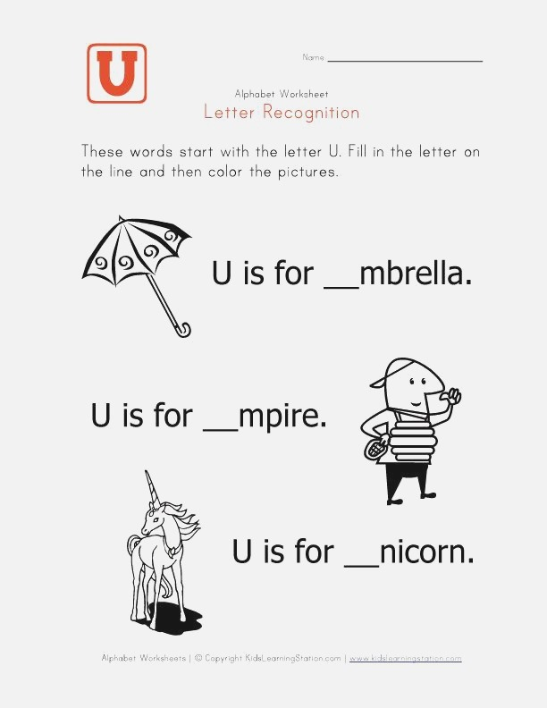 Words that Start with the Letter U