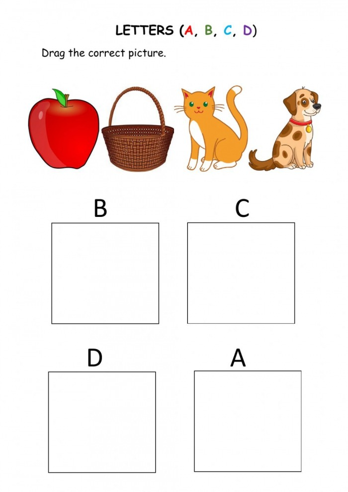 Abcd Letters For Kids Worksheet