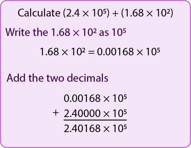 Add And Subtract With Numbers In Standard Form