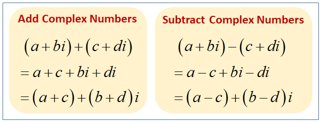 Adding And Subtracting Complex Numbers Videos  Worksheets