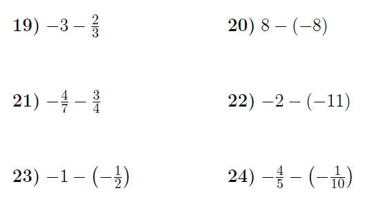 Adding And Subtracting Positive And Negative Integers And