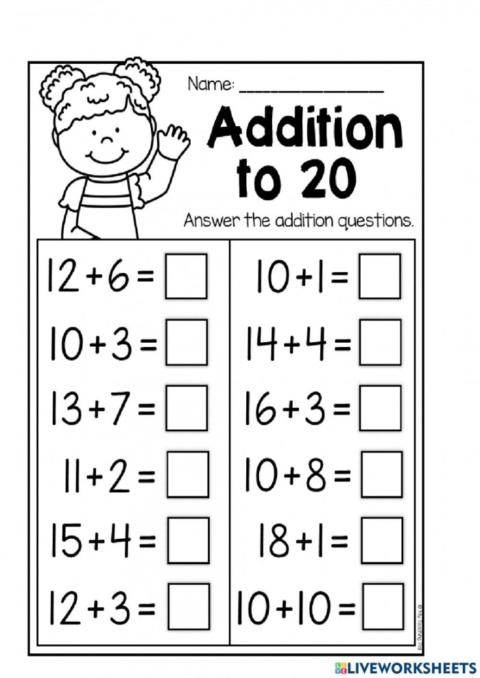 Adding And Subtracting Through  Worksheet