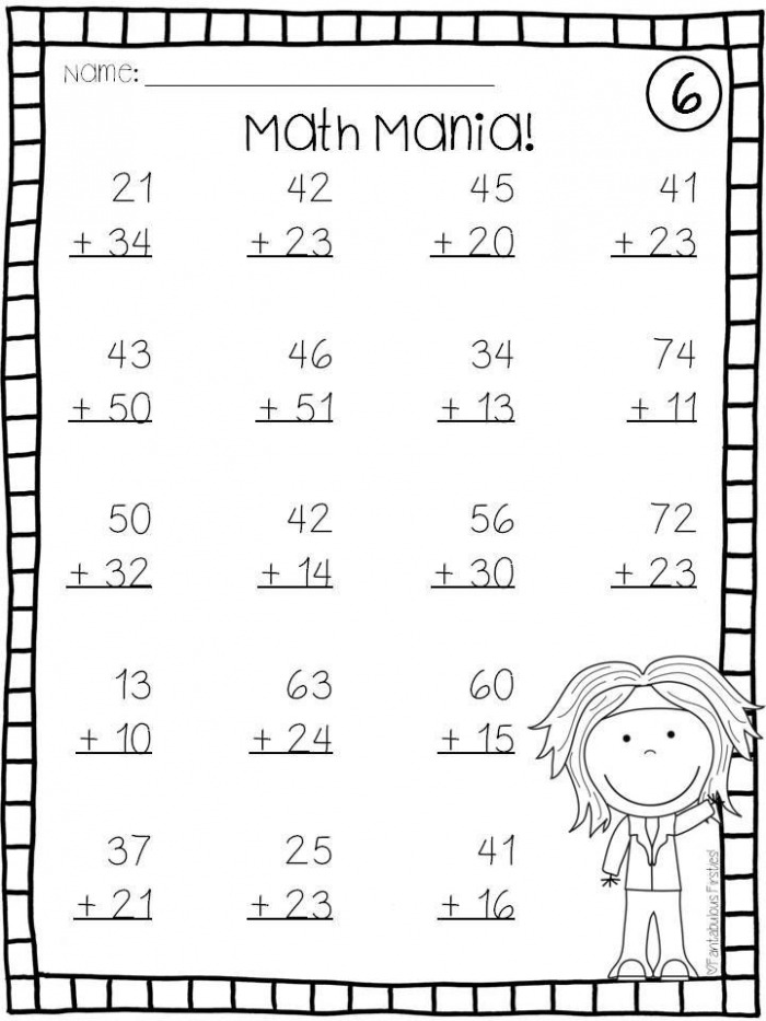 Addition And Subtraction Double Digit Math Facts Without