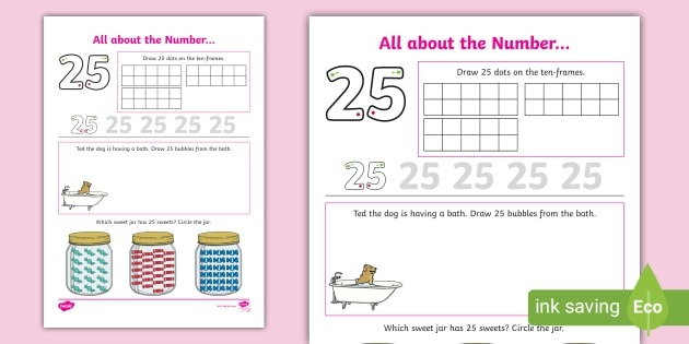 All About The Number  Worksheet