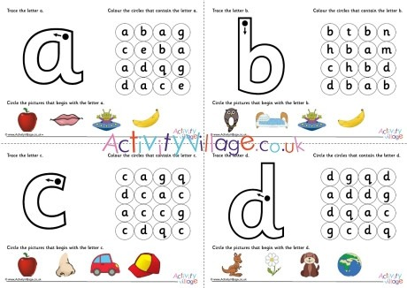 All Alphabet Learn The Letter Worksheets