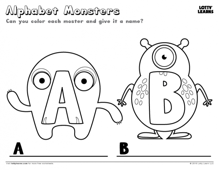 Alphabet Monsters A And B