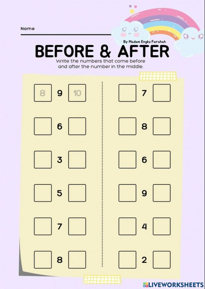Before And After Activity For Year