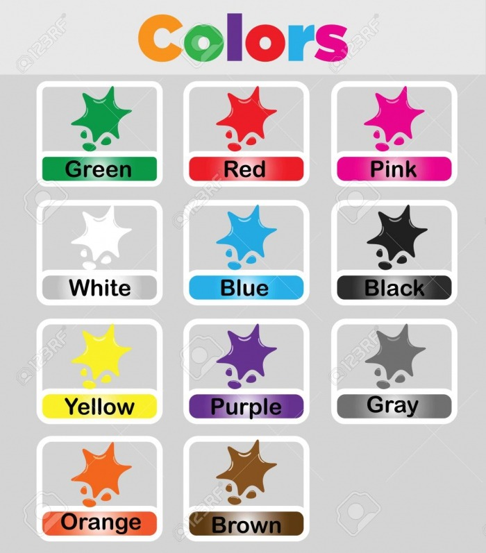 Color Flashcards Printable For Kids  Color Vocabulary Cards