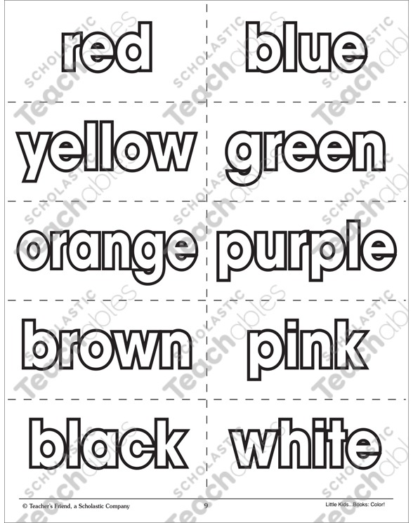Color Words Flash Cards
