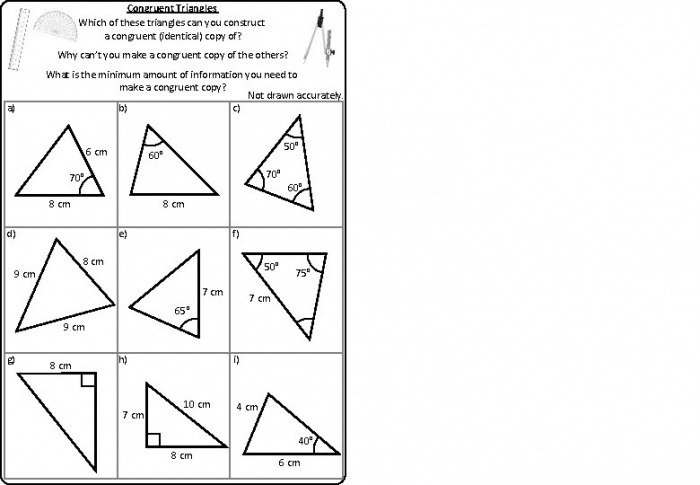 Identical Triangles Worksheets