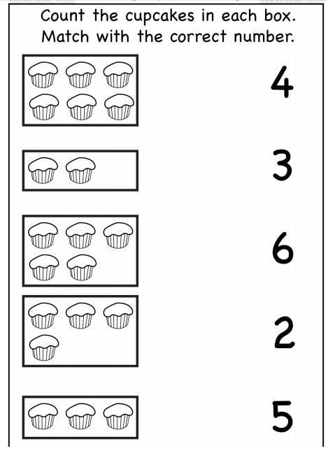 Counting Cupcakes Worksheets