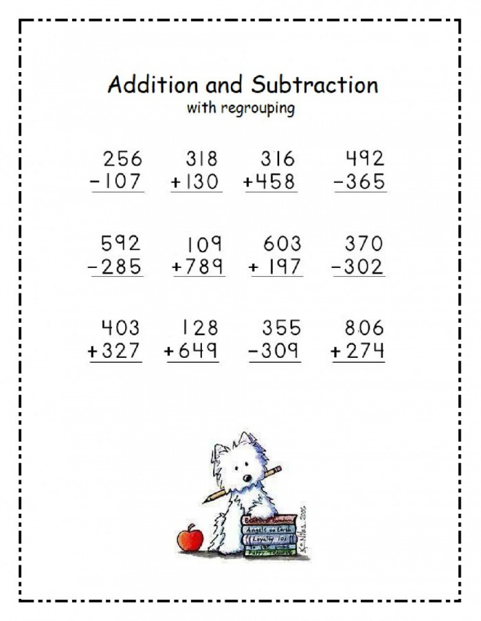 Digit Addition And Subtraction Worksheet