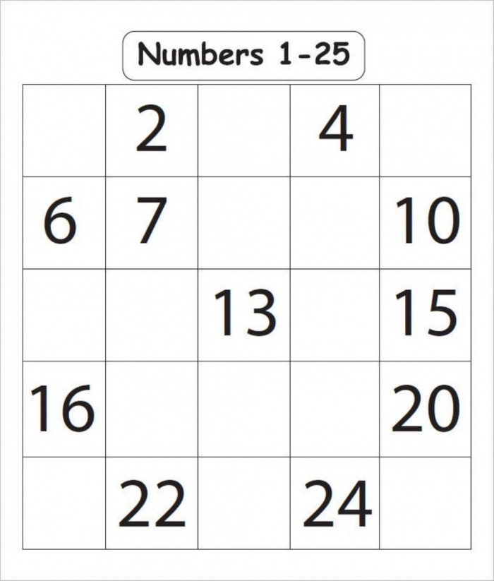 Fill The Missing Numbers Up To  Worksheet