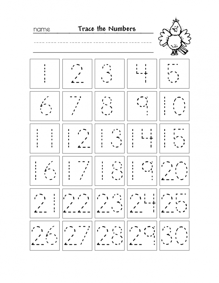 Free And Printable Number Charts From  To  To Help Your