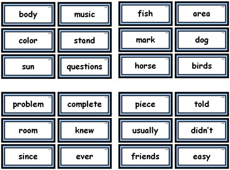Fry  Instant Words For Teaching Reading Free Flash Cards And