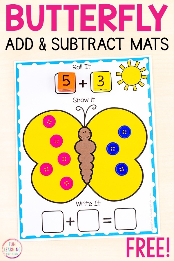 Insect Addition And Subtraction Mats