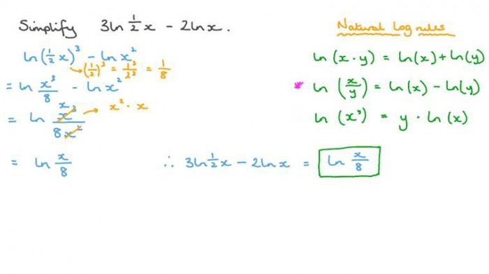 Adding And Subtracting Logarithms Worksheet