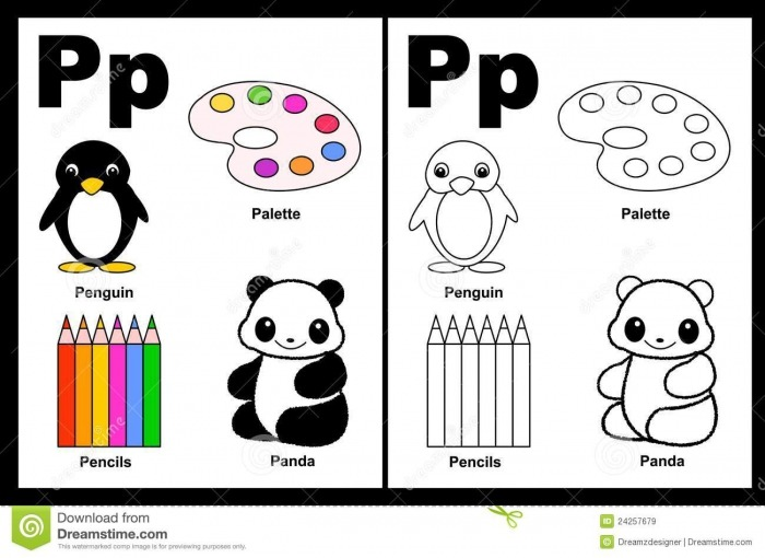 Things That Look Like The Letter P Worksheets