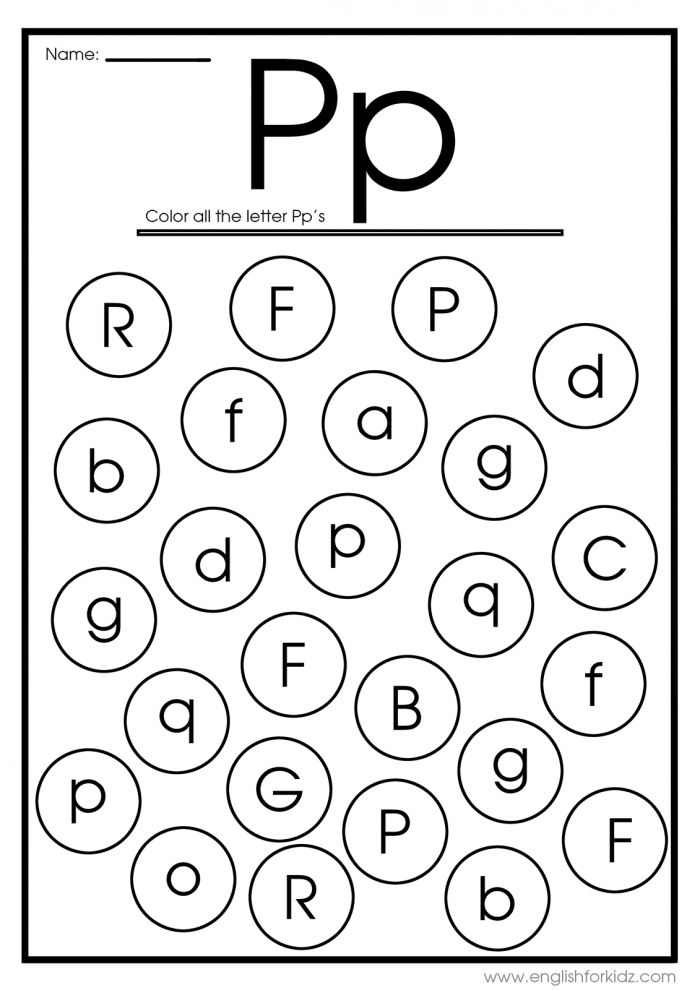 Letter P Worksheets  Flash Cards  Coloring Pages