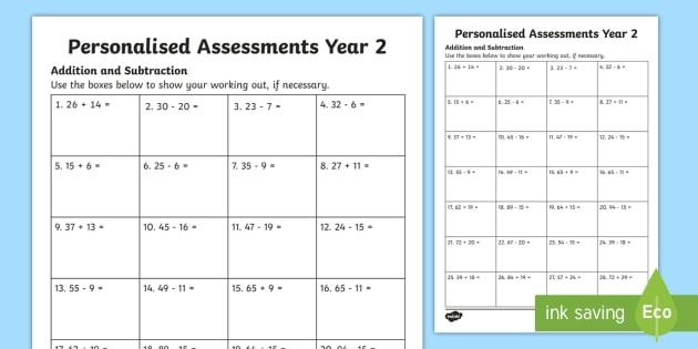 Year 2 Subtraction Worksheets