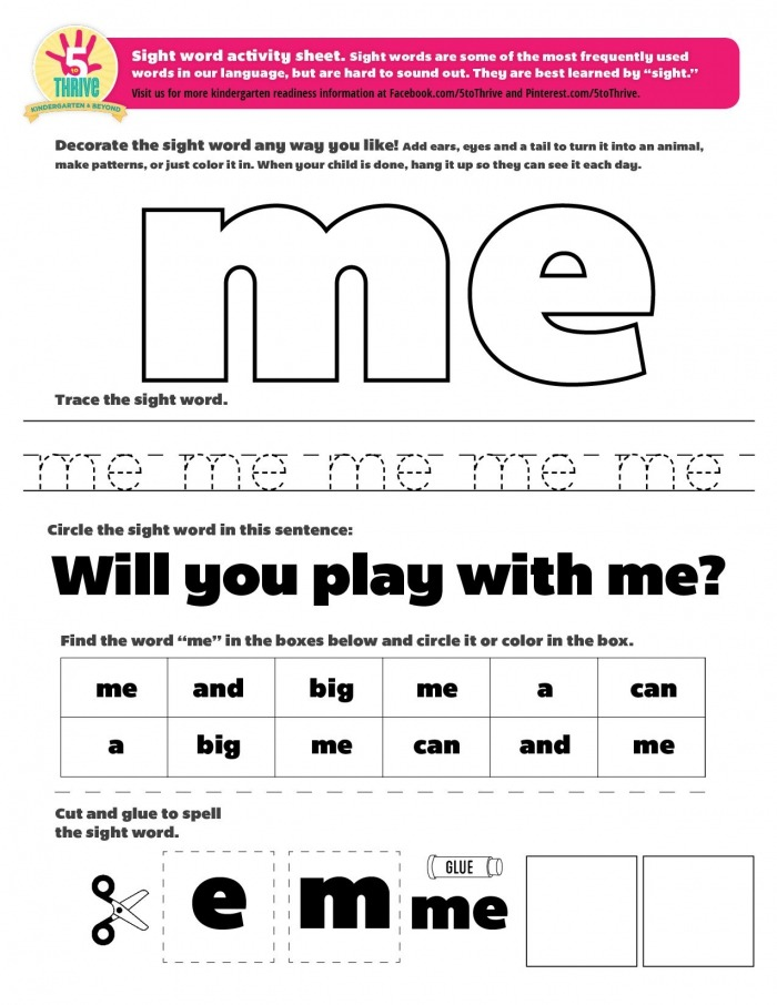 Pin On Sight Word Printables And More