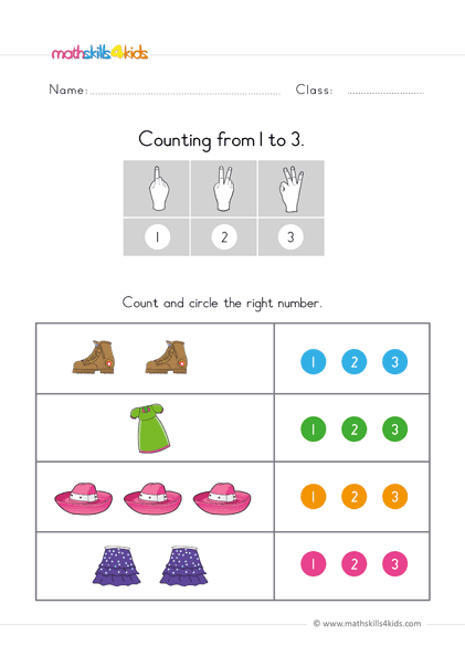 Preschool Math Worksheets Counting To