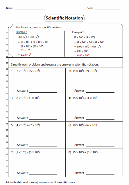 Simplify And Express In Scientific Notation