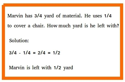 Subtracting Fractions Word Problems