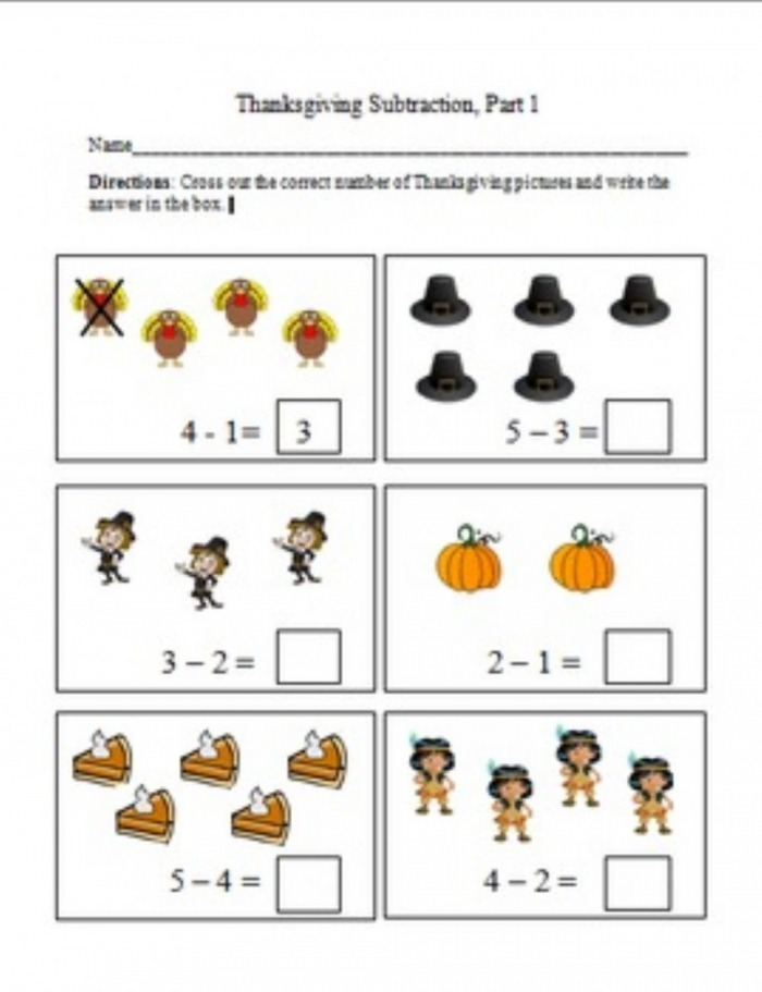 Subtraction By Crossing Out Worksheet