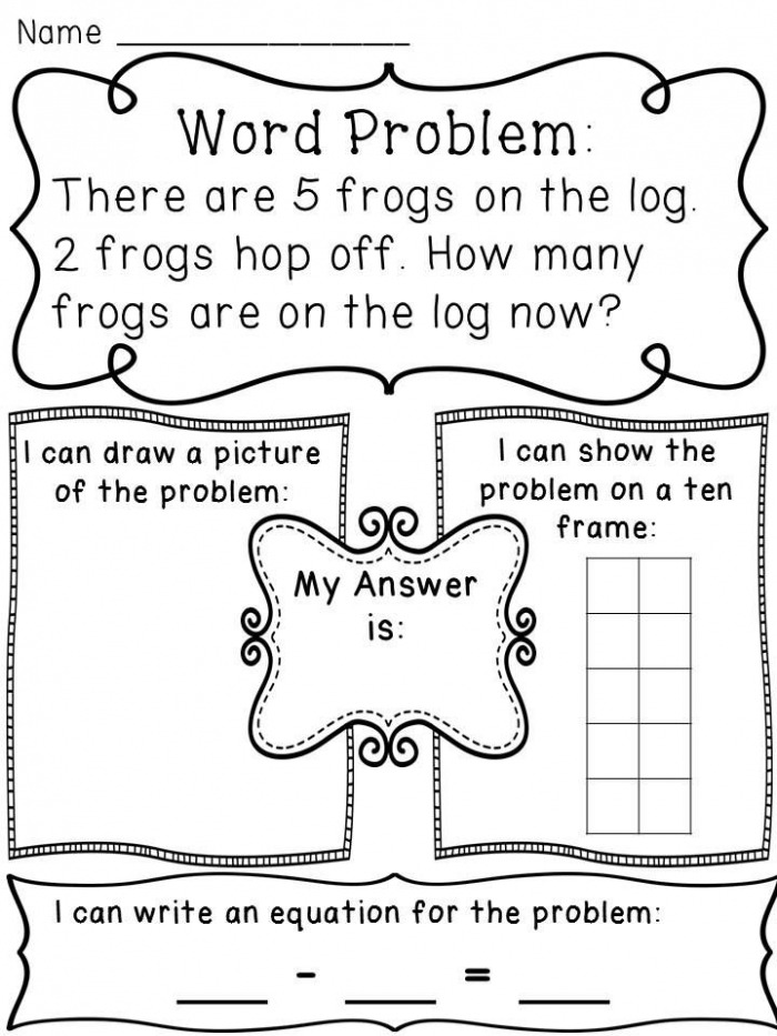 Subtraction Within  Word Problems Worksheets
