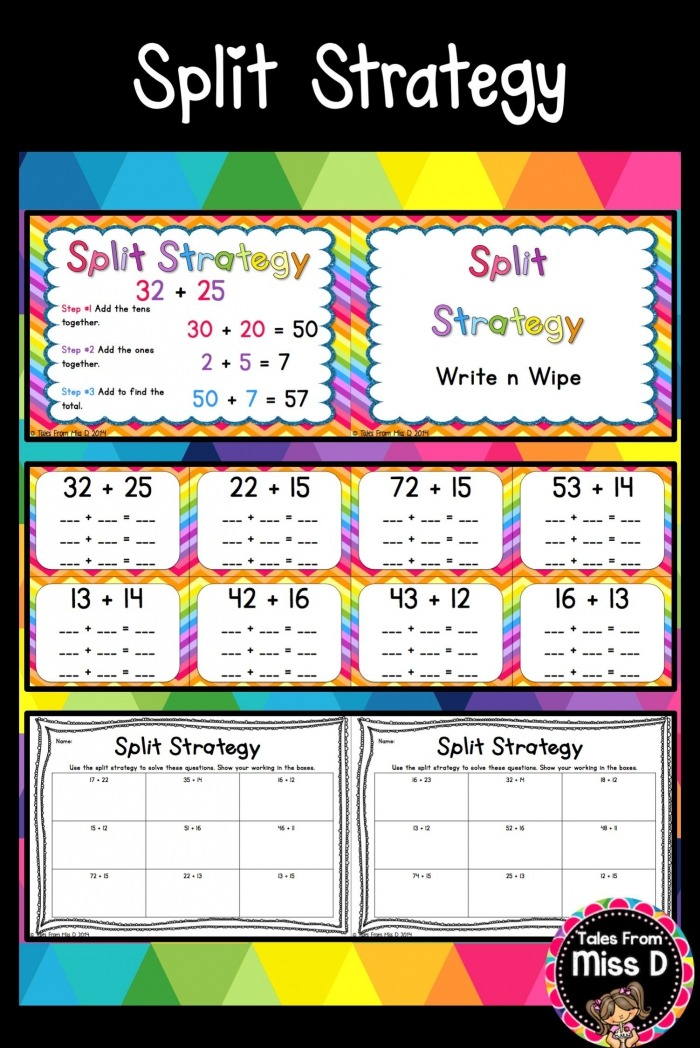 This Pack Will Help You Teach The Split Strategy For Addition To