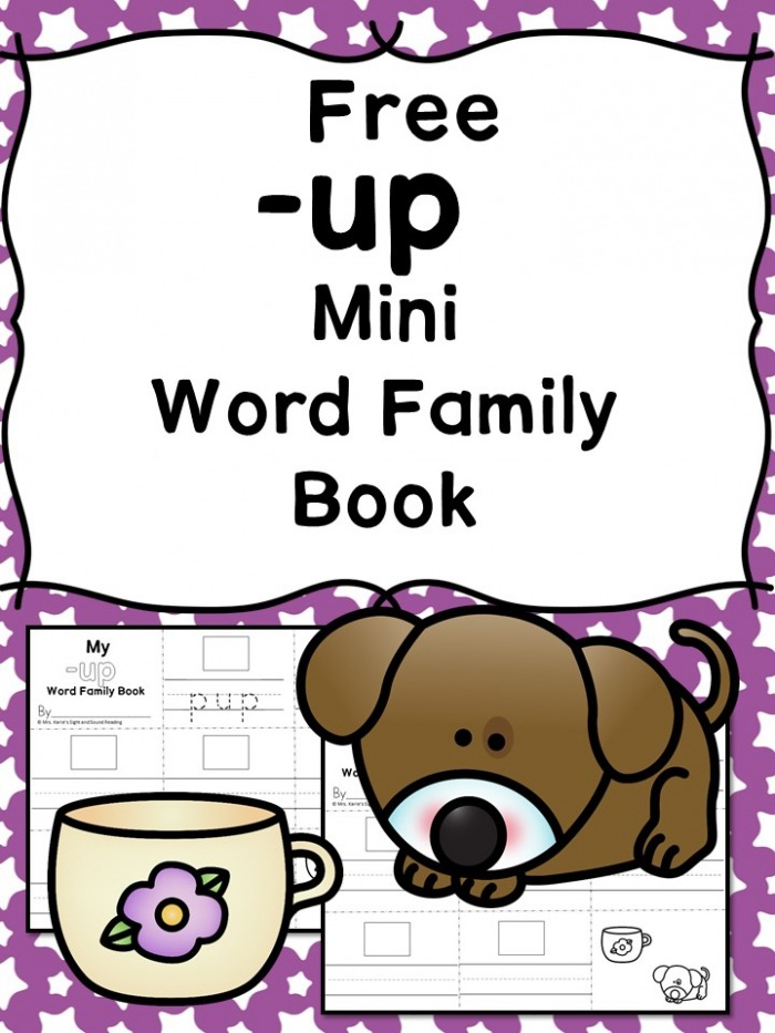 Up Cvc Word Family Worksheets