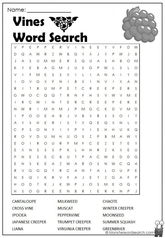 Vines Word Search