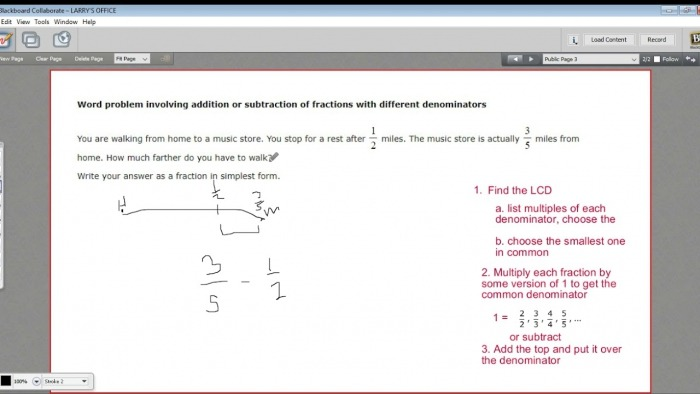 Word Problem Involving Addition Or Subtraction Of Fractions With