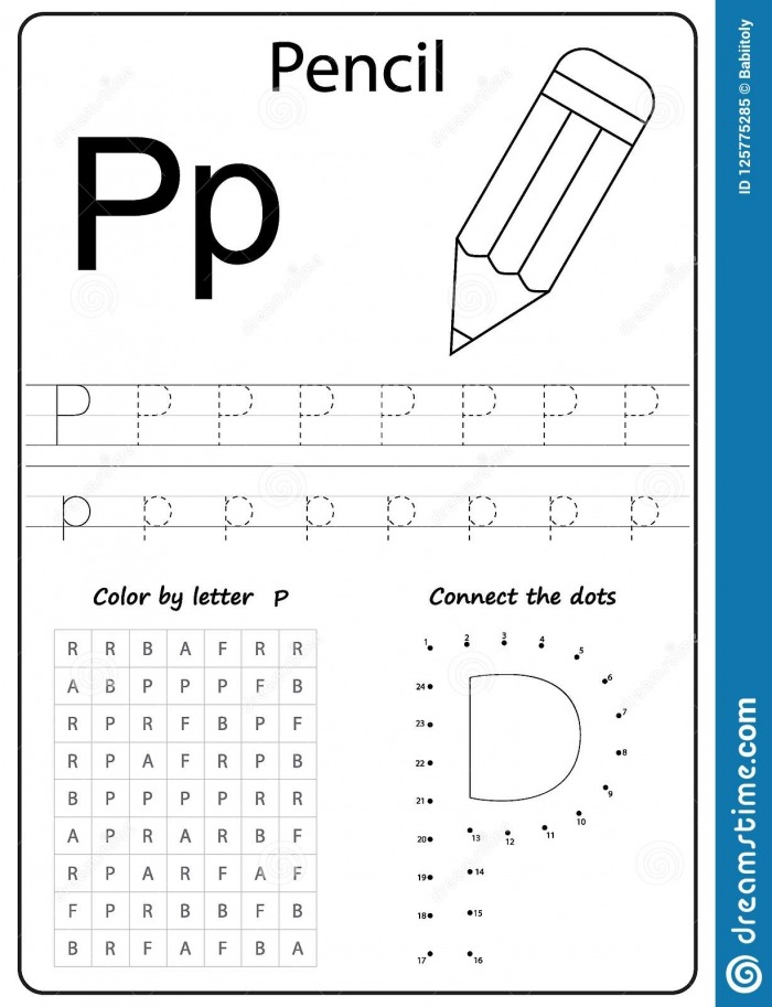 Writing Letter P Worksheet Writing A